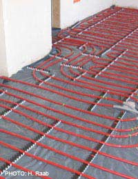 Underfloor Heating Efficient Heat Pump
